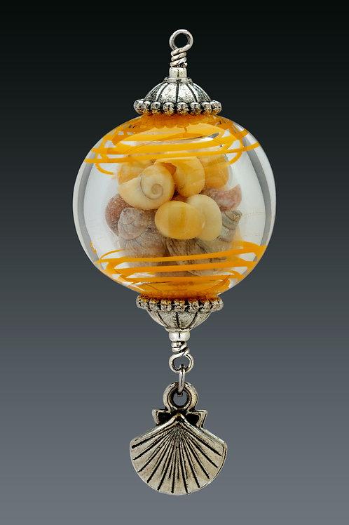 Yellow Swirl Miniature Ornament