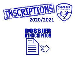 INSCRIPTION 2020/21- IL EST ENCORE TEMPS !!!