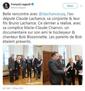 Tweet François Legault - Bob Bissonnette