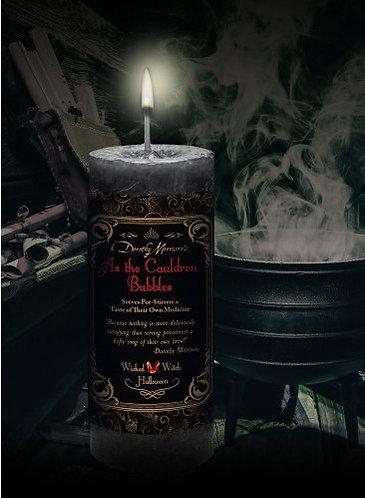 As the Cauldron Bubbles Candle