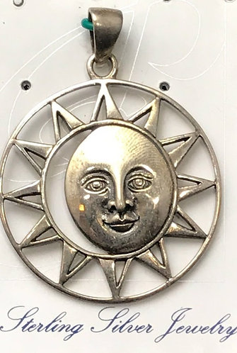 Peter Stone Sterling Silver Sun & Moon