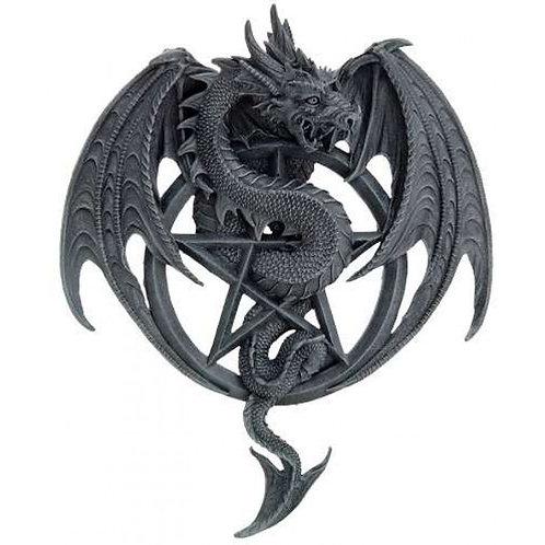 Pentagram Winged Dragon Plaque