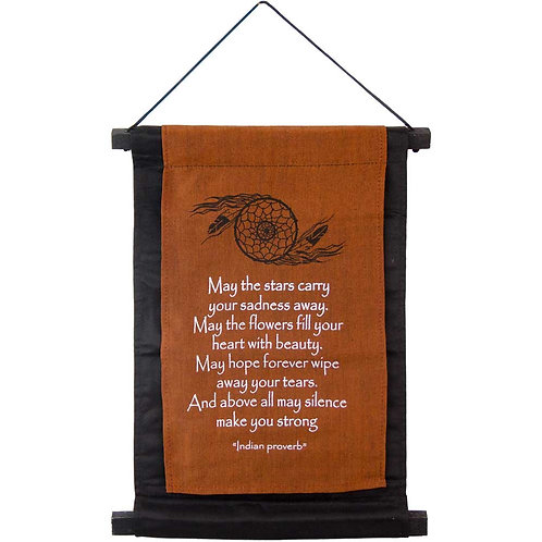 Small Cotton Indian Proverb Banner - May the Stars