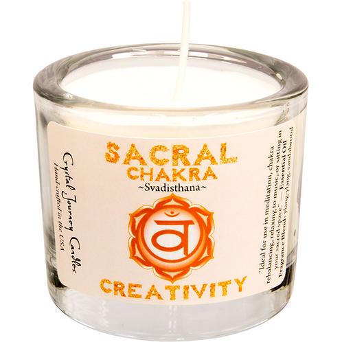 Soy Herbal Filled Votive Sacral Chakra