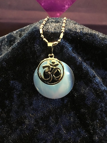 Om Stone Necklace - Opalite
