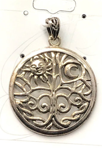 Peter Stone Sterling Silver Sun & Moon Tree of Life
