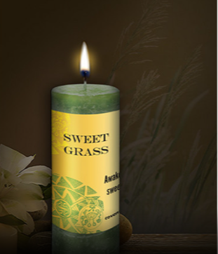 Sweet Grass World Magic Candle by Coventry Creations
