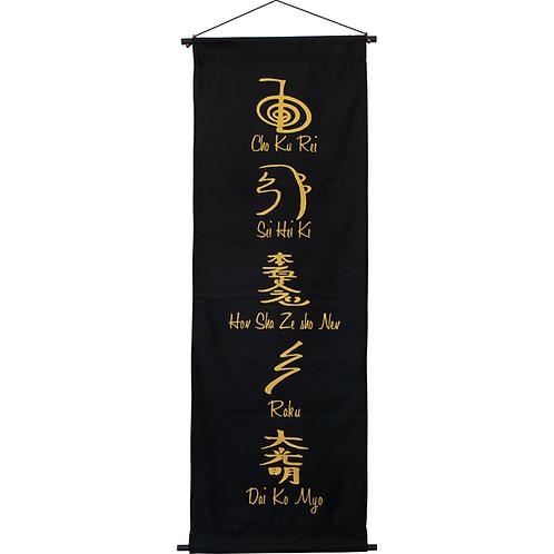Cotton Hand Printed Banner - Reiki Symbols