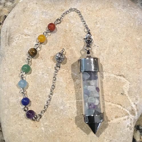 Crystal Chipped Pendulum - Fluorite