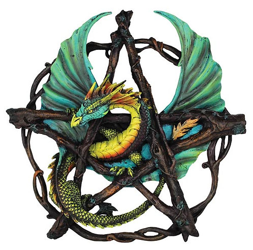Forest Pentagram Dragon Wall Plaque