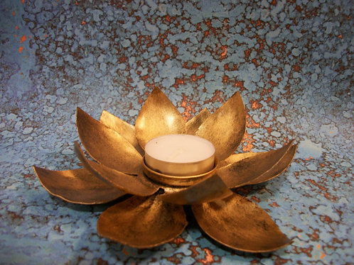 Lotus Metal Tea Light Holder