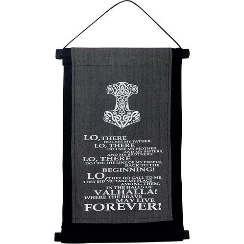 Small Cotton Valhalla Prayer Banner