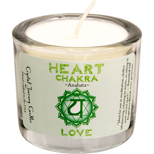 Soy Herbal Filled Votive Heart Chakra