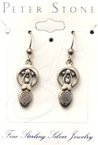 Peter Stone Sterling Silver Goddess Earrings