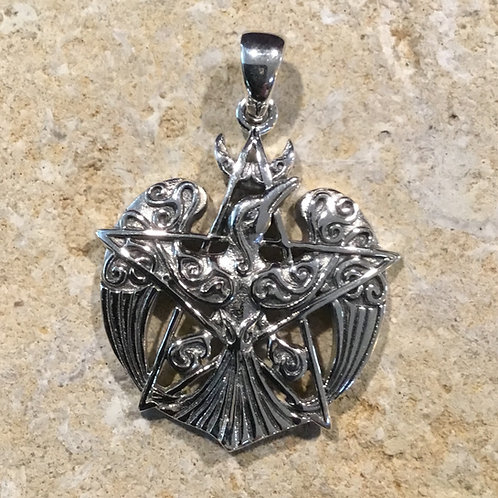 Raven w/ Pentagram Pendant