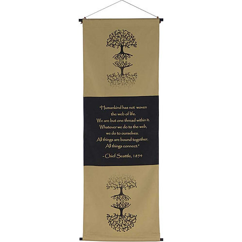Cotton Inspirational Banner The Web of Life