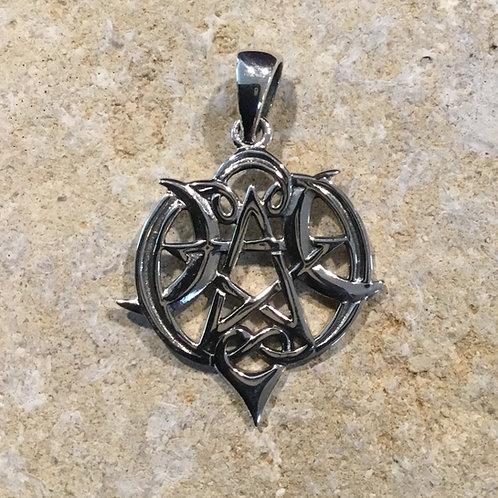 Triple Moon Pentacle Pendant