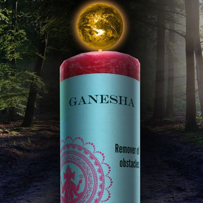 Ganesha World Magic Candle by Coventry Creations