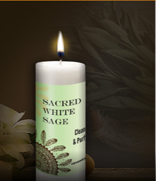 Sacred White Sage World Magic Candle by Coventry Creations