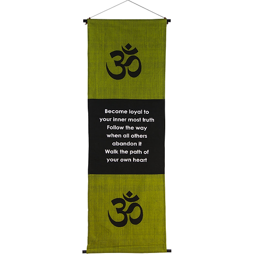 Cotton Inspirational Banner - Path of your Heart