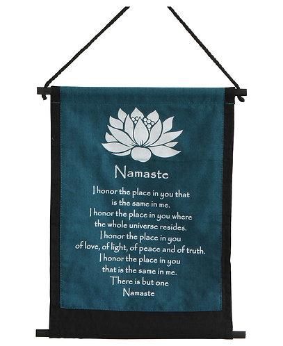 Small Cotton Namaste Banner