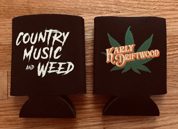 Country Music And Weed Koozie