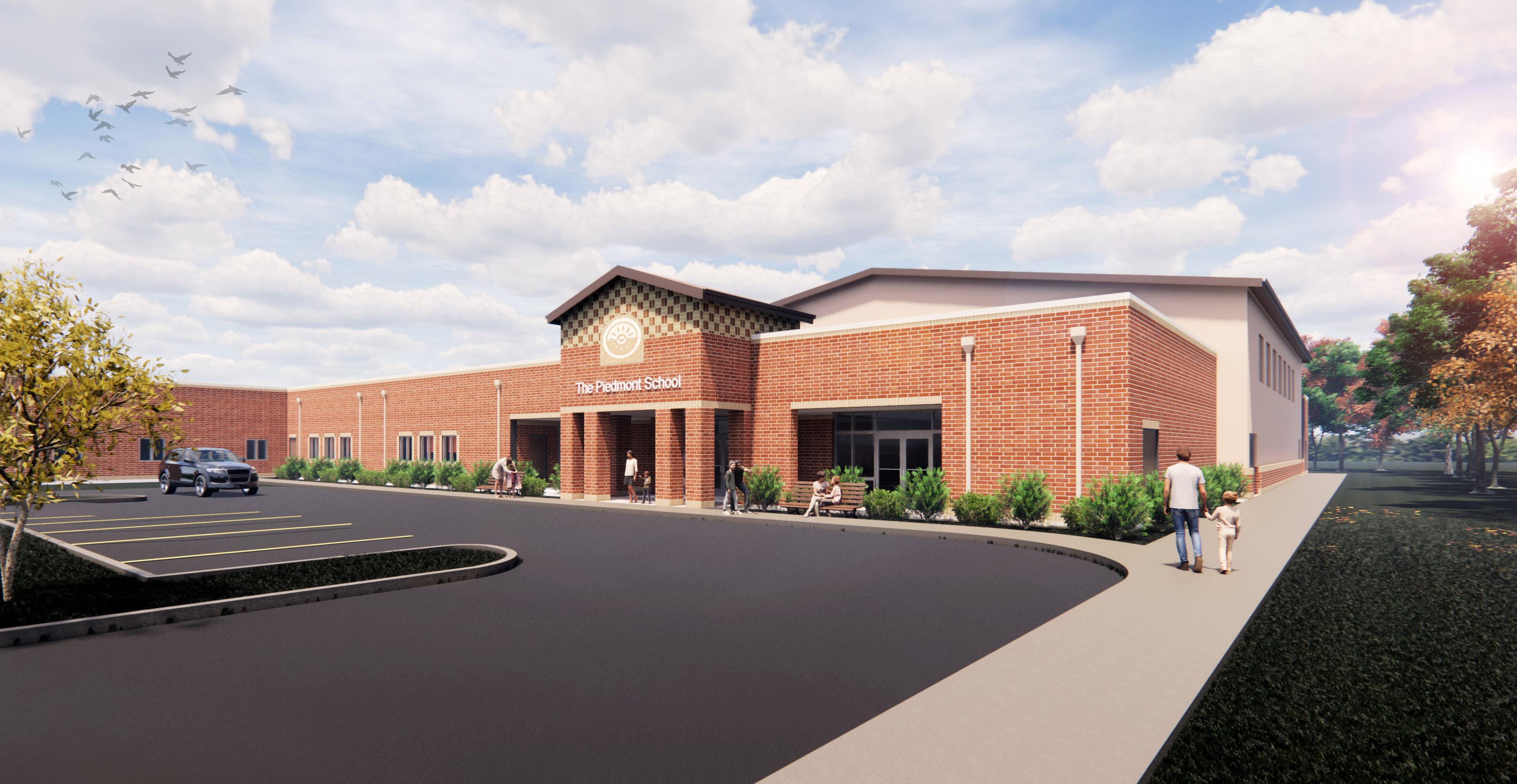Piedmont School Updated Exterior