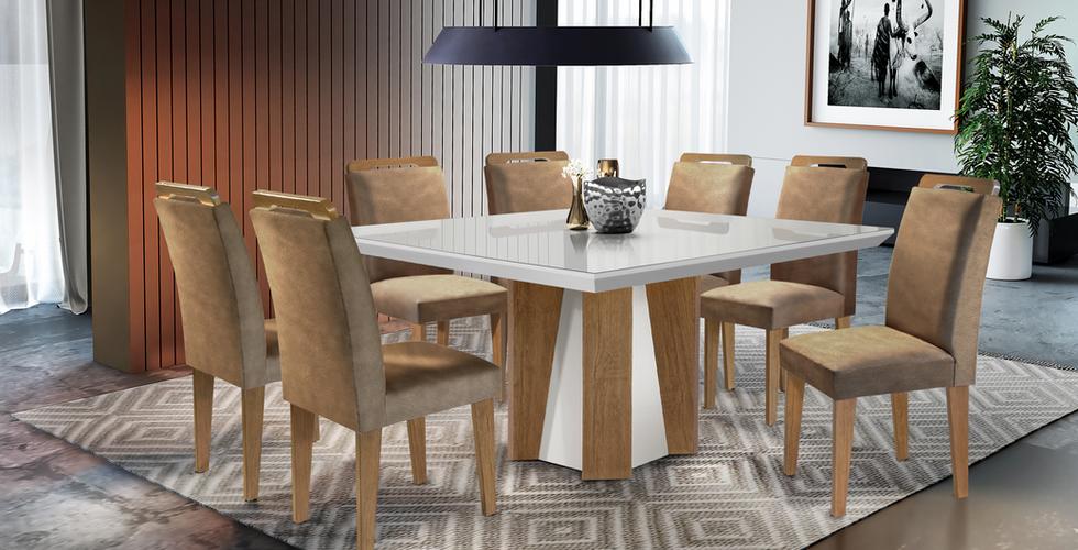 Sala de jantar Valença com cadeira Athenas