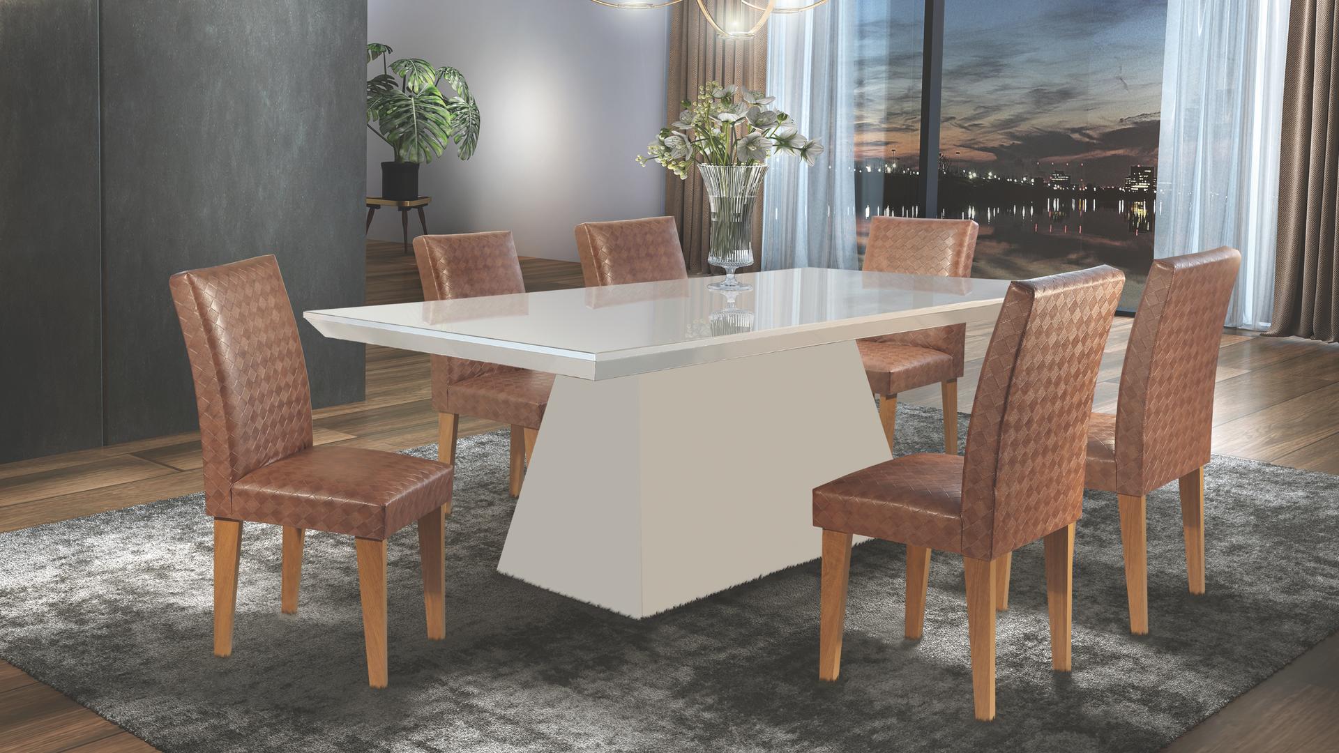 Sala de jantar Luna com cadeira Grécia