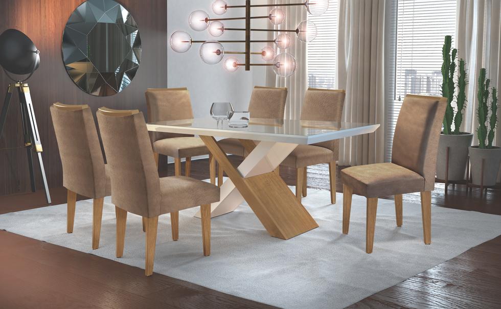 Sala de jantar Imperatriz com cadeira Lunara
