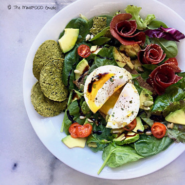 Spinach Salad with Poached Egg