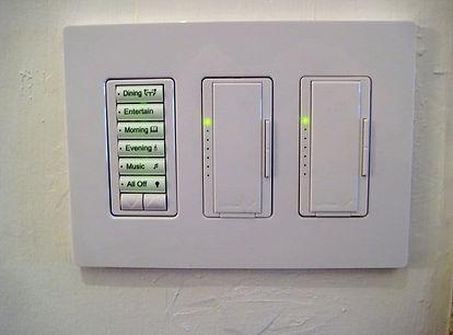 Lutron Radiora 2 lighting Keypad and dimmers