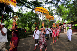 Procession for prayer ceremony