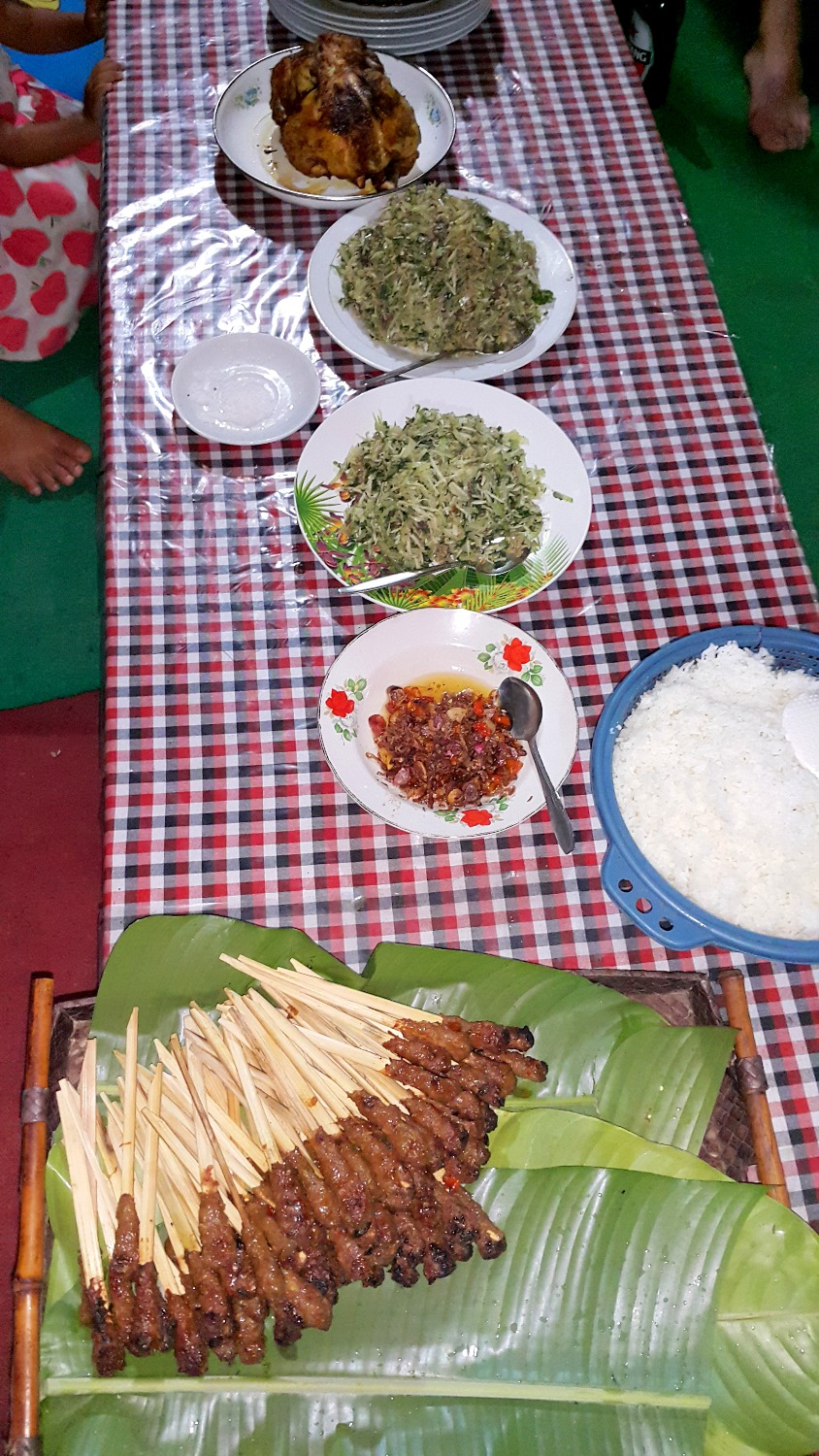 Balinese dinner in Bongkasa village