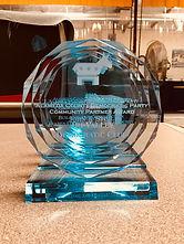 Engraved Blue Acrylic Awards