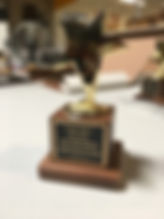Gold Star Trophy with engraved text