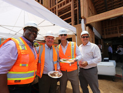 Development Team and City of Imperial Beach Officials Celebrate 'Topping Out' at Hampton Inn & S