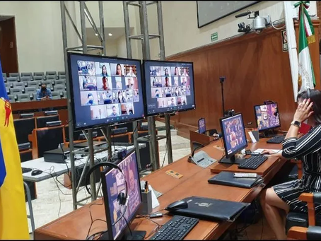 Congreso de Jalisco estrena sesiones plenarias virtuales