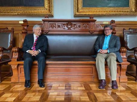 Monreal se reúne con López Obrador por Covid-19