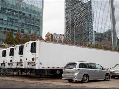 Nueva York instala morgue improvisada por virus en el mismo sitio que el 11S