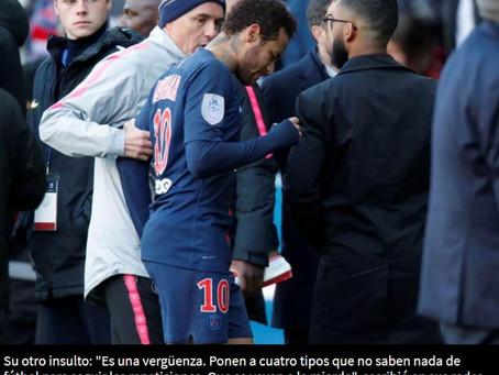Neymar suma castigos por sus insultos