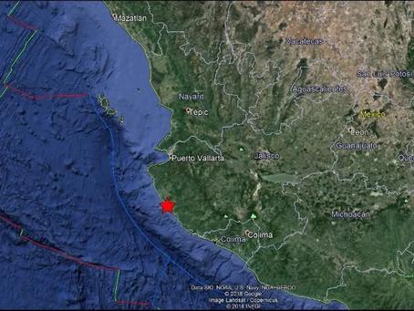 Se registra sismo en Puerto Vallarta