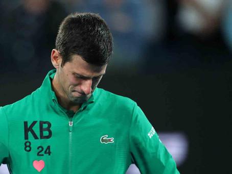 Djokovic rompe en llanto en el Abierto de Australia