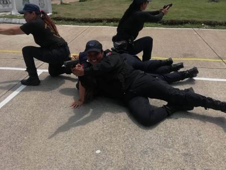 Intensa la capacitación a los cadetes de la Academia Municipal de Policía y Tránsito de Puerto Valla