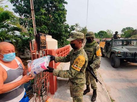 Ejército distribuye más de medio millón de despensas por Covid-19