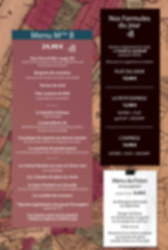 Brasserie Mr&Mme B - Savenay- Les menus