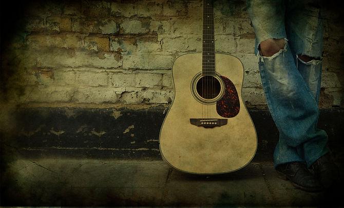 Smoky Guitar Portrait