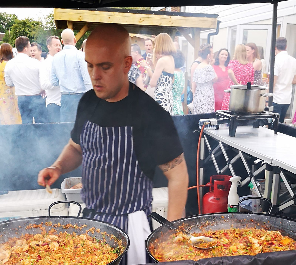 eastwick school PTA caterer paella effingham rugby club