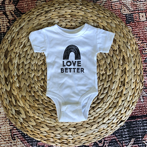 Love Better Newborn Onesie