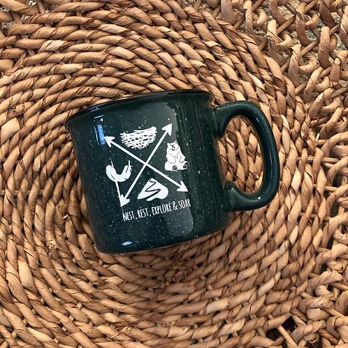 Nest, Rest, Explore & Soar Mug